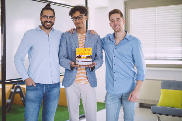 business-team, das team der zweiten jubiläum - super torte stock-fotos und bilder