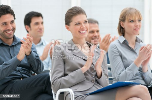istock Business team clapping hands 483634437