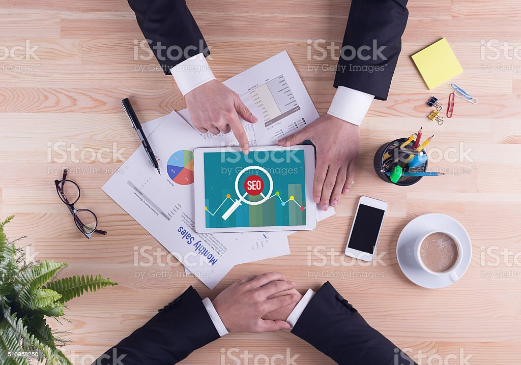 Business team concept - SEO stock photo