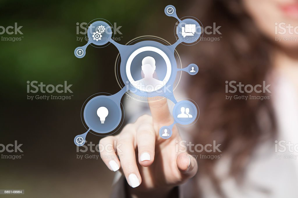 Business team connecting. stock photo
