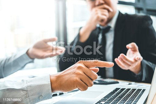 885956164istockphoto Business team Consulting meeting working and brainstorming new business project finance investment concept 1129748892
