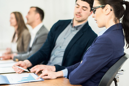 672116416 istock photo Business Team Controlling Financial Figures Problems in Corporate Meeting 1247046972