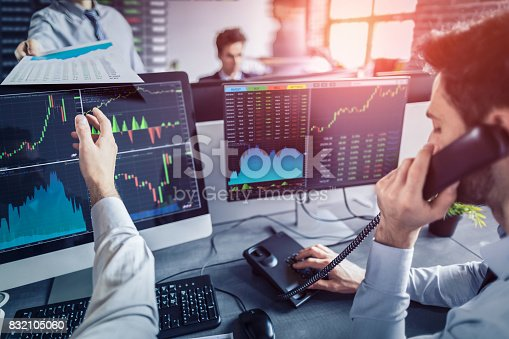 istock Business team deal on a stock exchange. Stock traders concept. 832105060