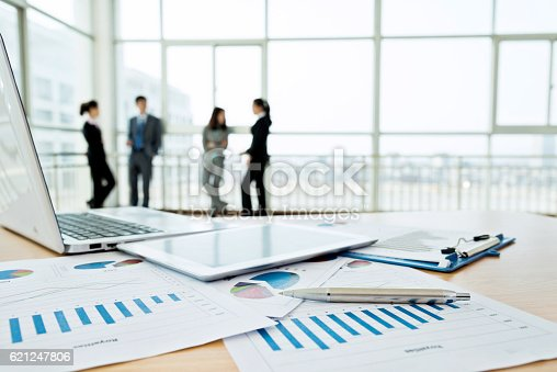 istock Business team discussing 621247806