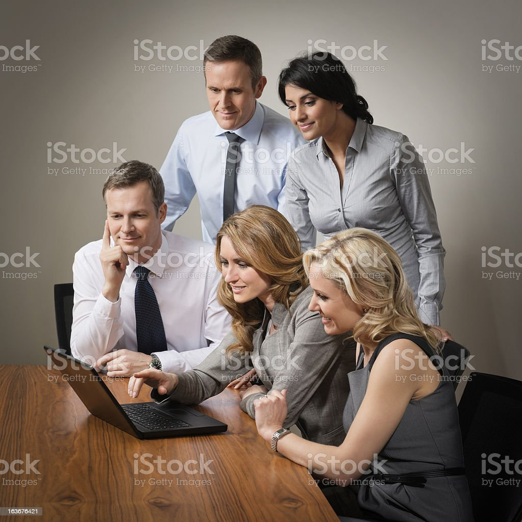 Business Team Discussing Project royalty-free stock photo