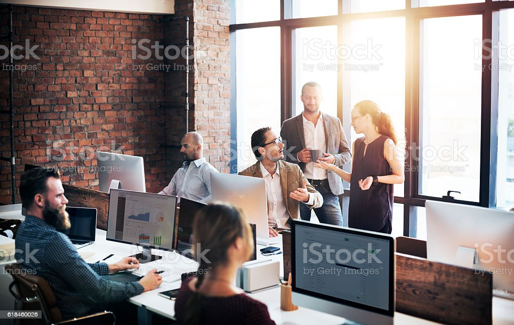 Business Team Discussion Meeting Corporate Concept stock photo