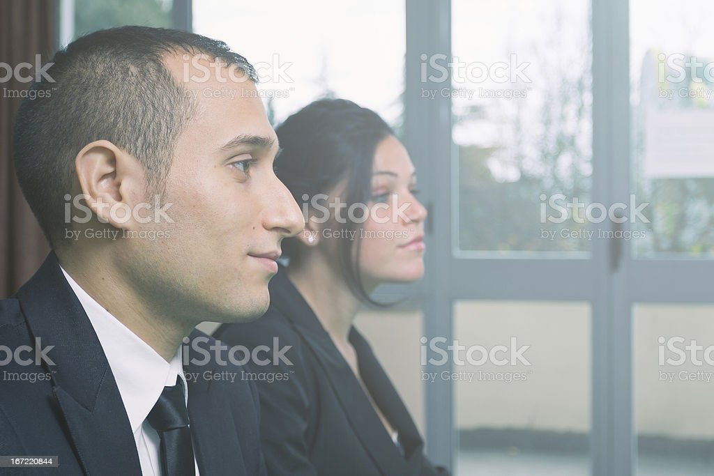 Business Team doing a meeting royalty-free stock photo