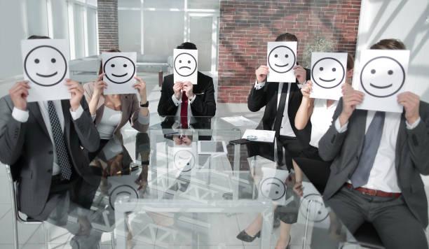 Business Team Feeling Happy stock photo