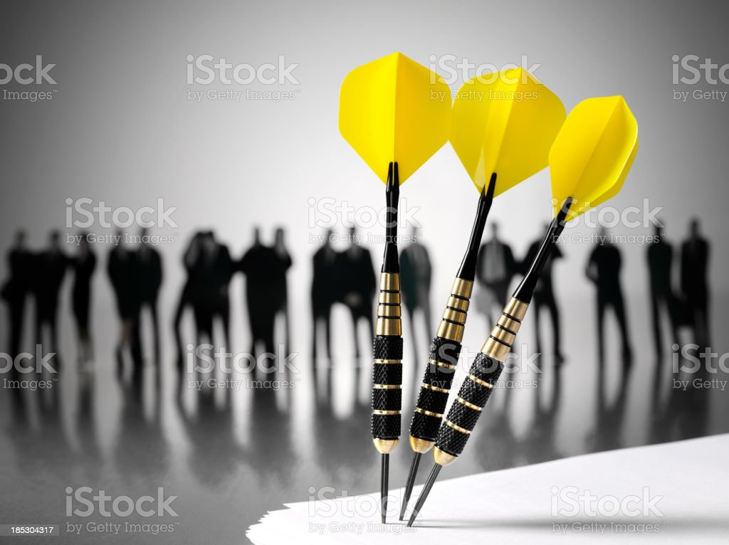 Business Team Focus on the Target royalty-free stock photo