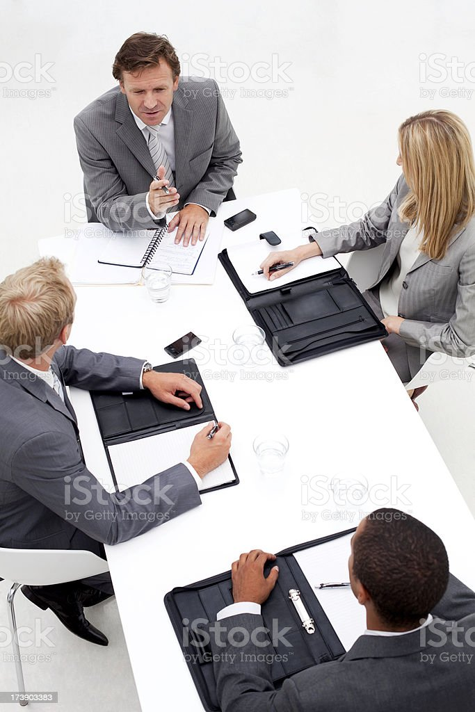 Business team in a meeting. royalty-free stock photo