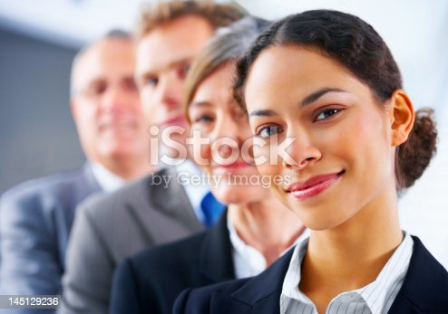 istock Business team in a row 145129236
