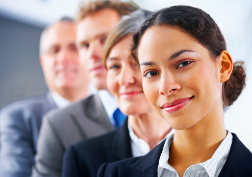 514325215 istock photo Business team in a row 145129236