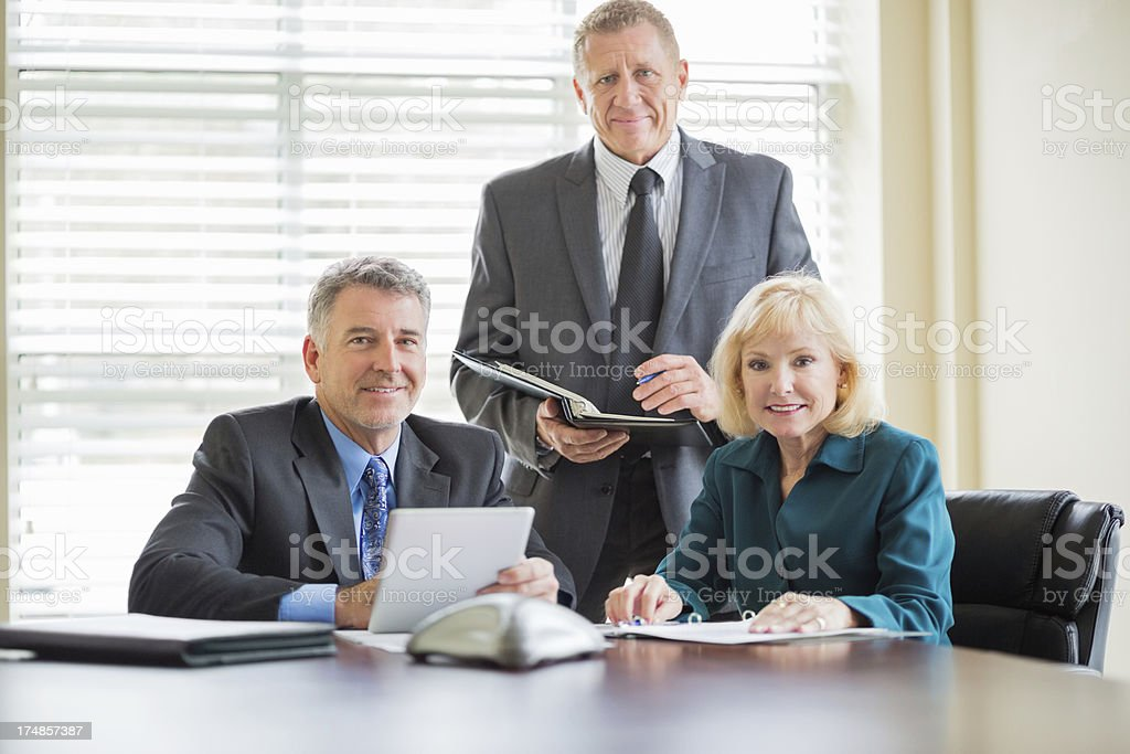 Business Team In Board Room royalty-free stock photo