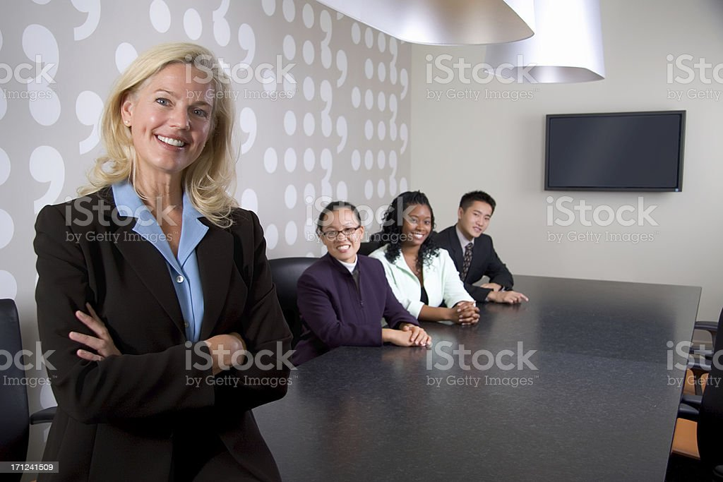 Business Team in Conference Room royalty-free stock photo