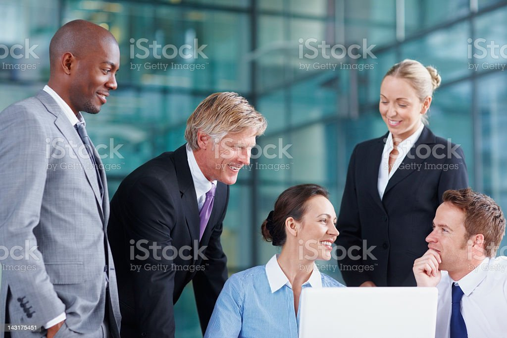 Business team in discussion royalty-free stock photo