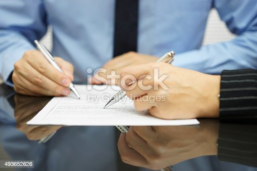 istock business team in meeting is working together on financial document 493652626