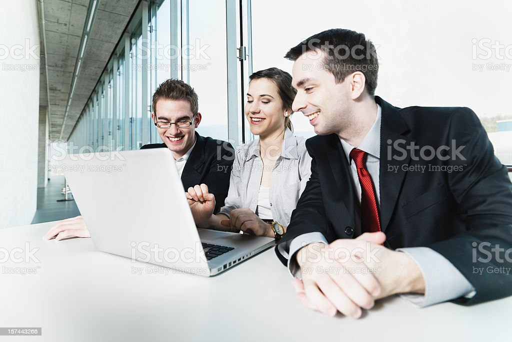 Business Team in Modern Office royalty-free stock photo