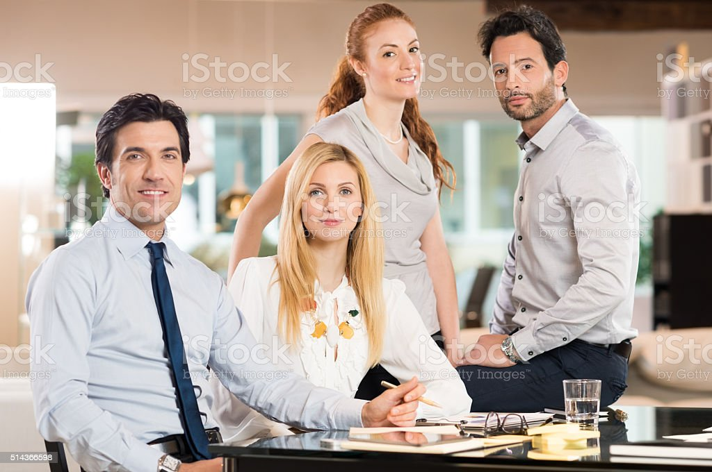 Business team in office stock photo