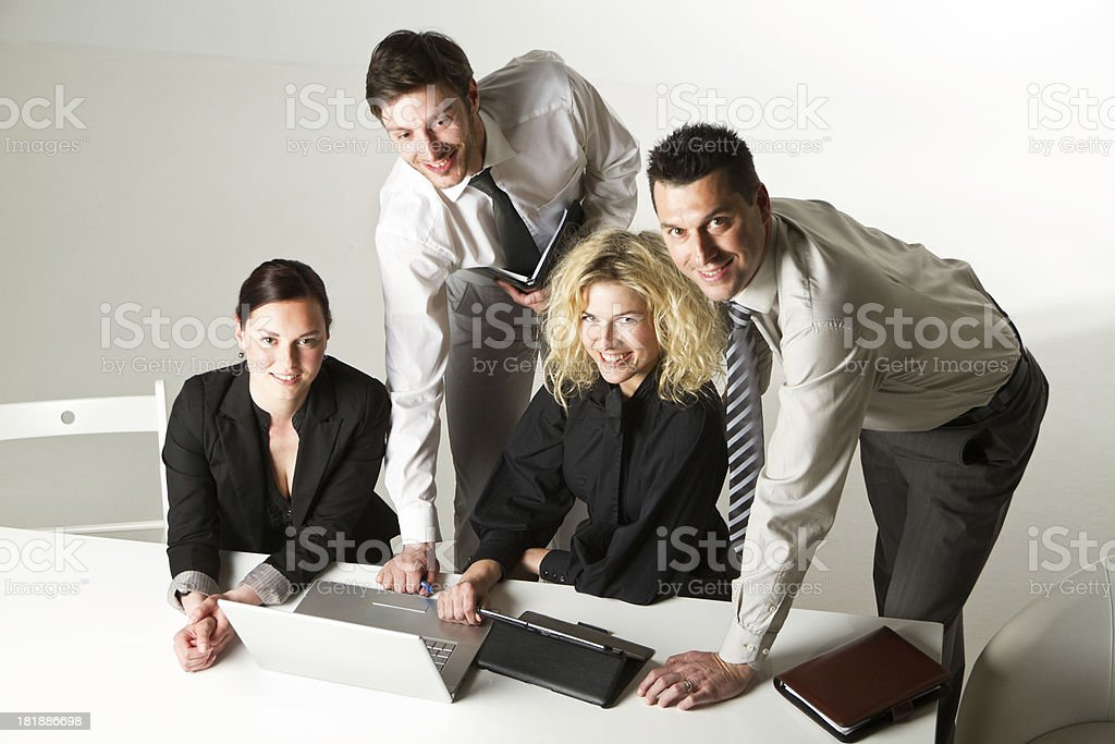 Business team in the office royalty-free stock photo