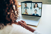 istock Business team in video conference 1267194552