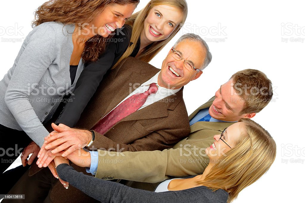 Business team interacting royalty-free stock photo