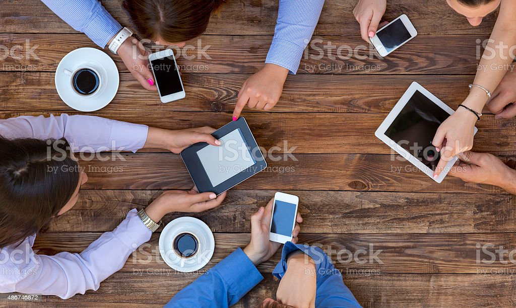 Business Team Interaction stock photo