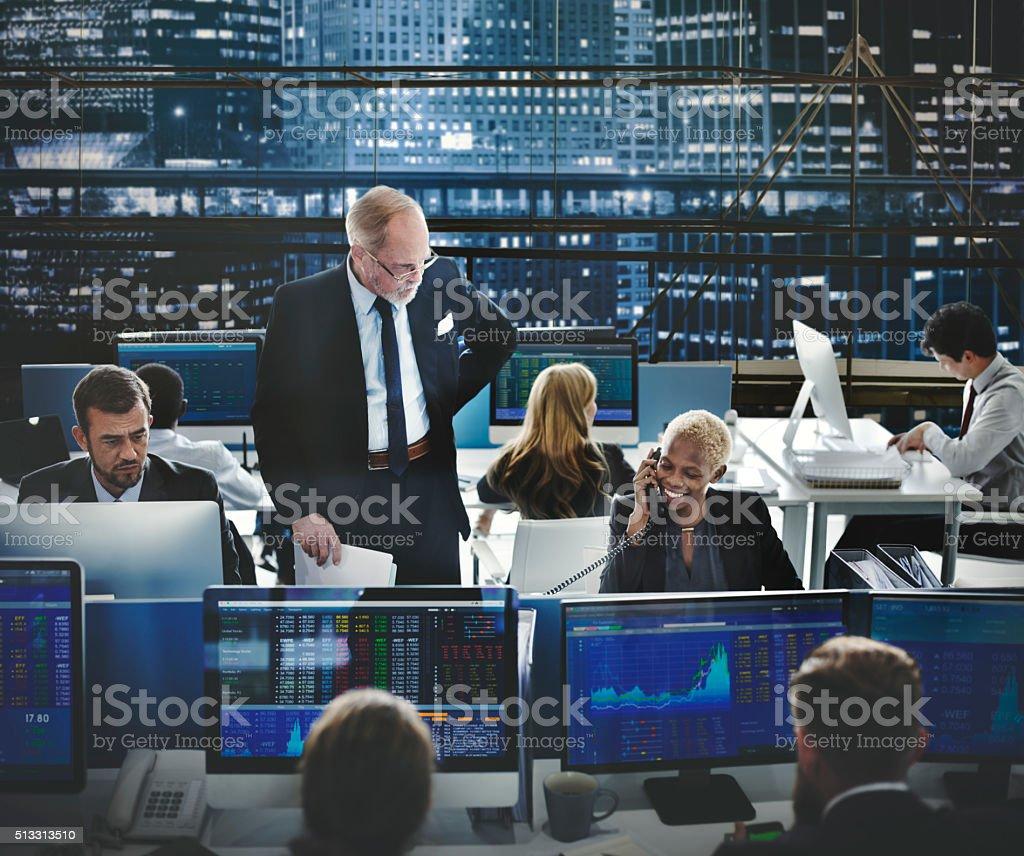 Equipo de negocio empresario concepto de inversión comercio - foto de stock