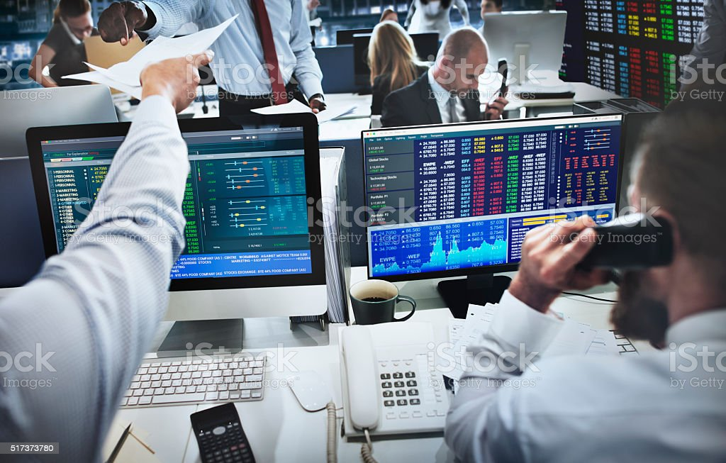 Squadra di Business commercio concetto di investimento Imprenditore - foto stock
