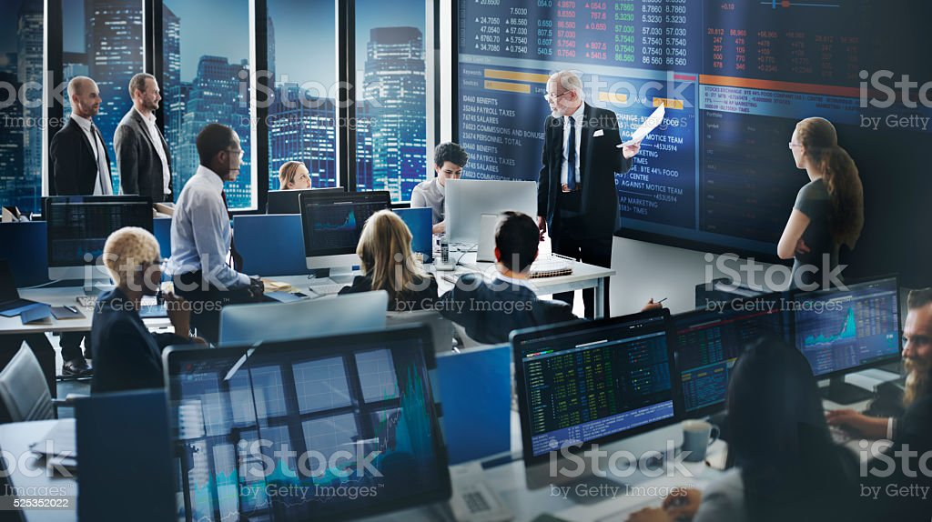 Business Team Investment Entrepreneur Trading Concept stock photo