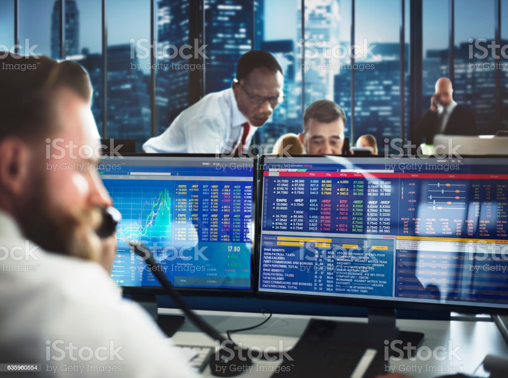 Business Team Investment Entrepreneur Trading Concept stock photo