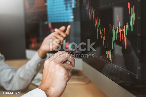 1131299321 istock photo Business Team Investment Entrepreneur Trading discussing and analysis graph stock market trading,stock chart concept stock photo 1164441669