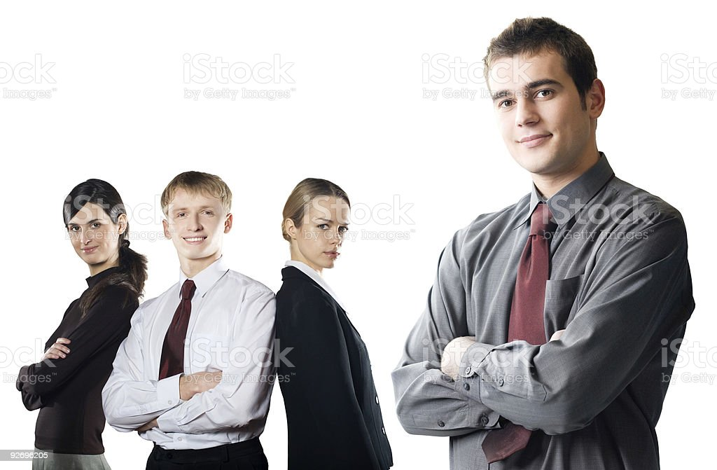 Business team isolated on white royalty-free stock photo