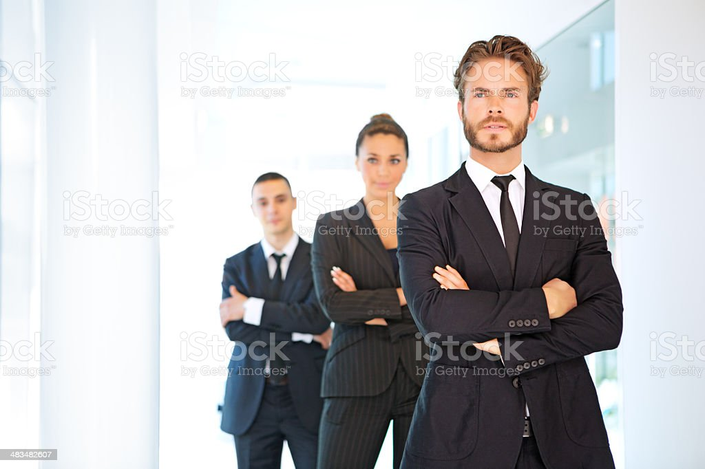 business team looking forward royalty-free stock photo