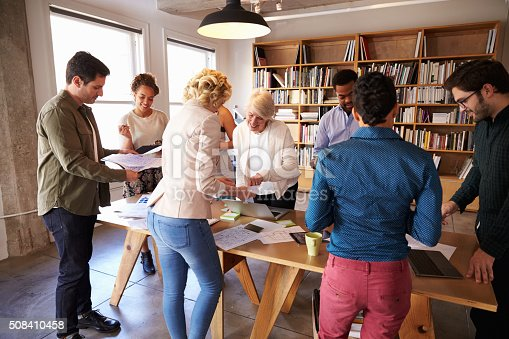 istock Business Team Meeting Around Table For Brainstorming Session 508410458