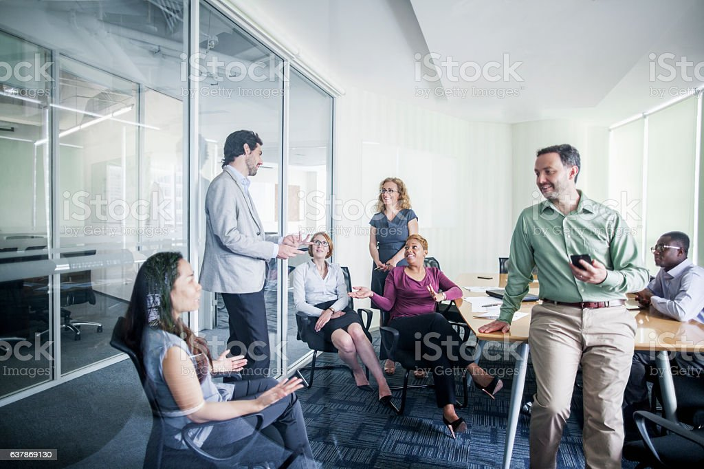 Business team meeting conference room stock photo