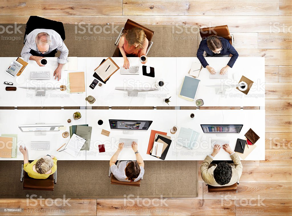 Business Team Meeting Connection Digital Technology Concept stock photo
