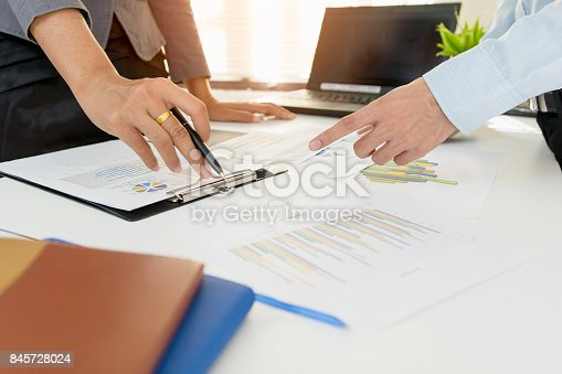 858031152istockphoto Business team meeting consulting the project. Professional investor working the project. Concept business and finance 845728024