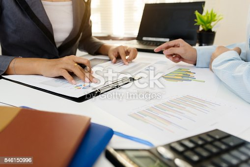 858031152istockphoto Business team meeting consulting the project. Professional investor working the project. Concept business and finance 846150996
