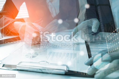 istock Business team meeting consulting the project.professional investor working the project. Concept business and finance 840549514