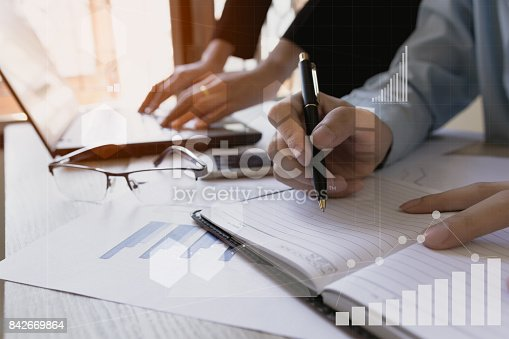 istock Business team meeting consulting the project.professional investor working the project. Concept business and finance 842669864
