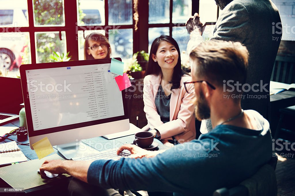 Business Team Meeting Discussion Ideas Concept - Royalty-free Adult Stock Photo