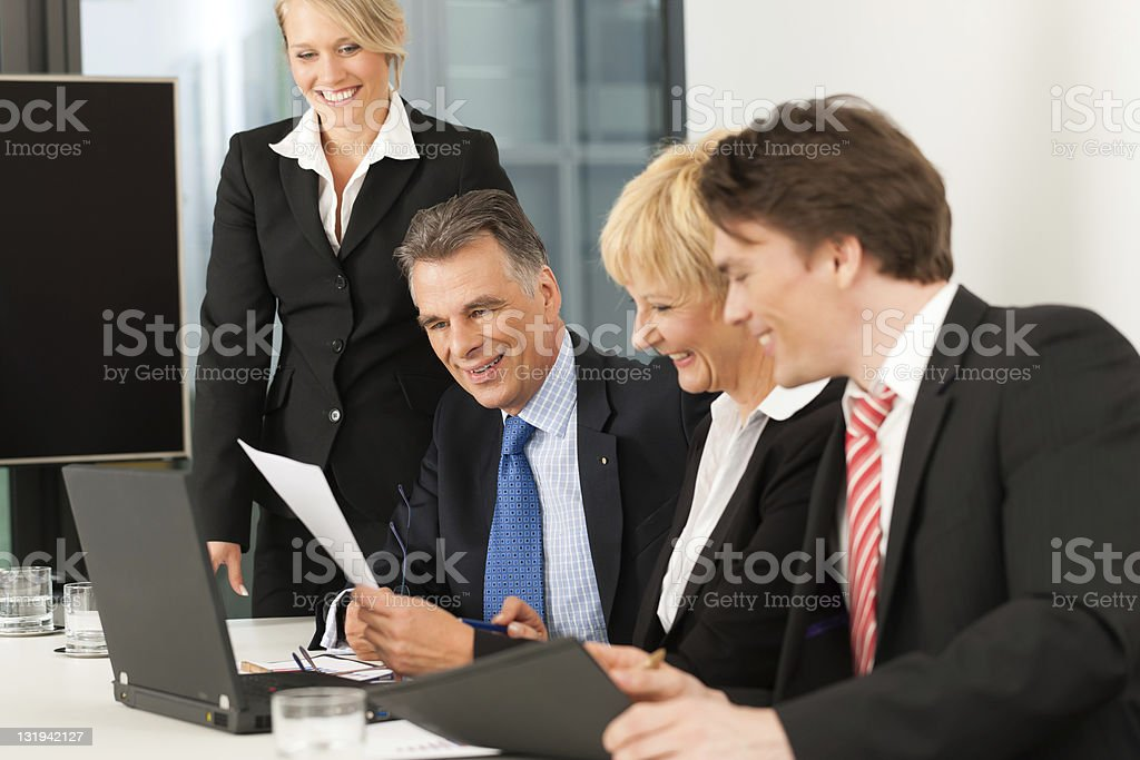 Business - team meeting in an office royalty-free stock photo