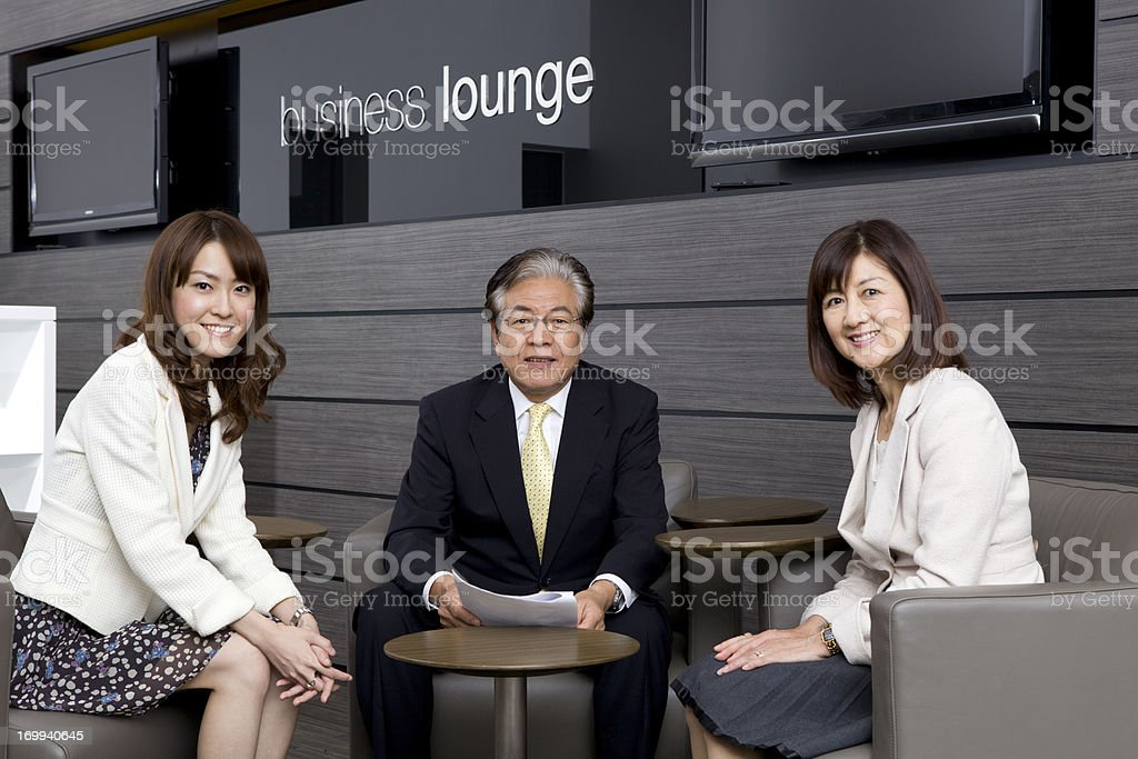 Business Team Meeting Pose royalty-free stock photo
