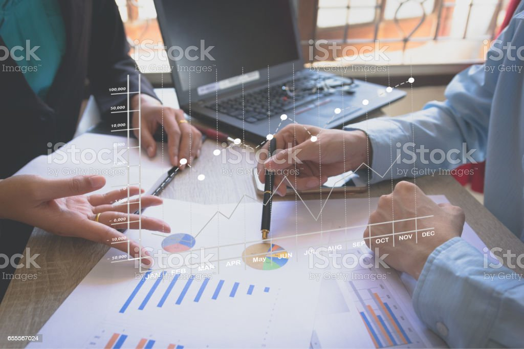 Business team meeting present the project royalty-free stock photo