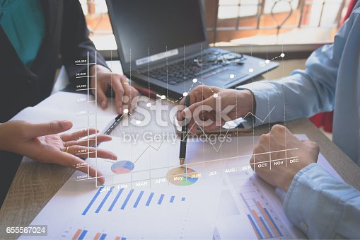 istock Business team meeting present the project 655567024