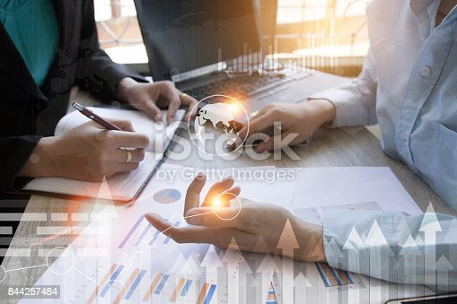 istock Business team meeting present the project .professional investor working with new project. Concept business and finance 844257484