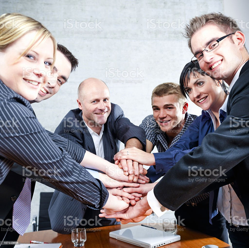 Business Team Motivation royalty-free stock photo
