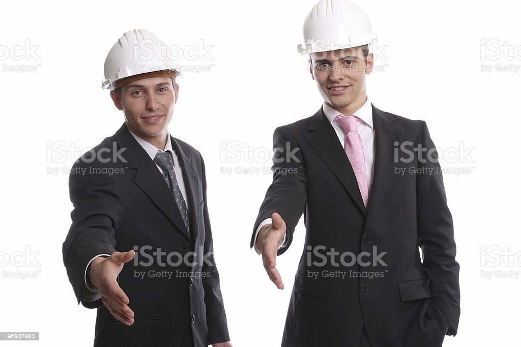 Business team, offering to shake hands royalty-free stock photo