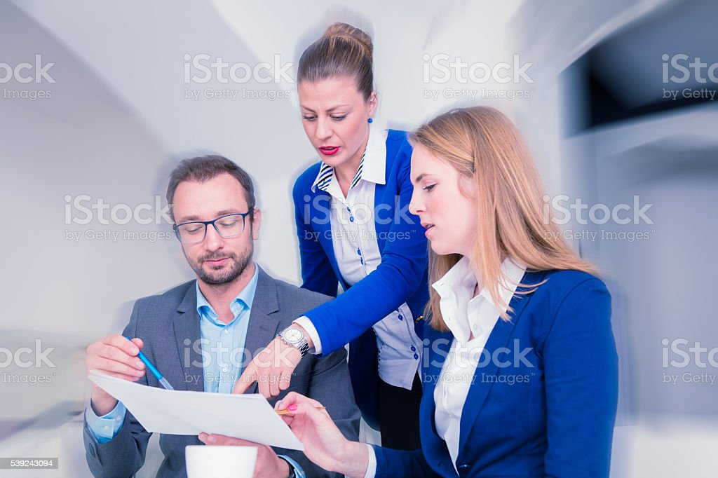 Business team on a brainstorming meeting  at the office royalty-free stock photo