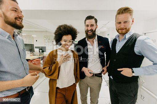 660311448 istock photo Business team on a break 956469622